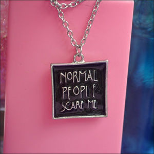 Jewelry - AHS Normal People Scare Me Necklace